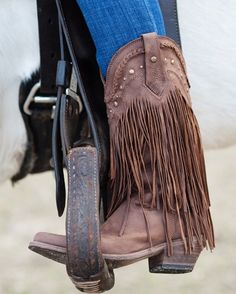 Saint Laurent Curtis 80 Fringed Suede Cowboy Boots For Spring ...