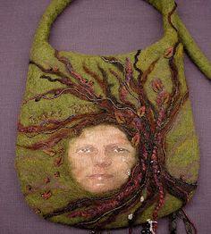 "Felted handbag ""Terra's Tears"""