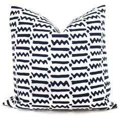 Quadrille Squiggle and Dot Navy Blue Pillow Cover 18x18, 20x20 , 22x22, Eurosham or Lumbar pillow Accent Pillow, Throw Pillow, Toss Pillow