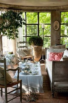 English Country Sunroom