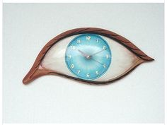 Blue Eye Hanging Wall Clock