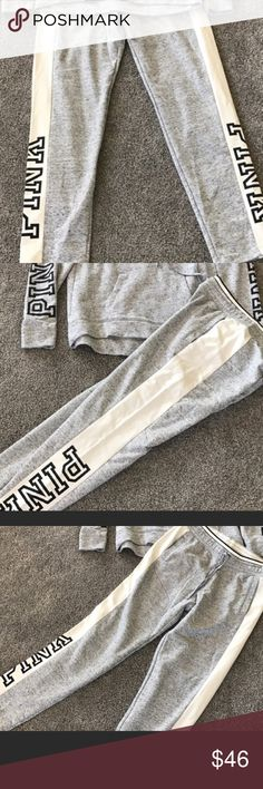 NWT Victoria's Secret Pink gym pants size Medium New with tags Victoria's Secret Pink gym pants size medium! Super cute and very soft! Straight leg! Smoke free home! PINK Victoria's Secret Pants Straight Leg