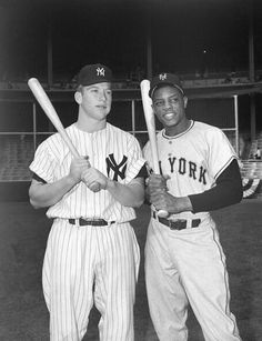 Two of the greatest center fielders ever. Willie was never a Yankee, but oh my, what a ball player! Mick & Willie. If you never saw them play, I'm sorry for you.