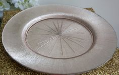 Charger plates are the perfect way for adding extra glamour to any table setting. We love this new Charger we have just introduced in a Champagne Pink..
