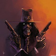 Зомби в шляпе с двумя револьверами в руках — Картинки на аву Obama Clinton, Free Thinker, Grim Reaper, Punisher, Troll, Weird, Horror, Darth Vader, Batman