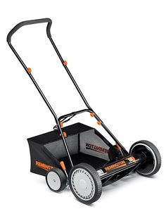 Manual Hand Push Reel Lawn Mower With Bagger Grass Catcher Walk Behind Vintage Reel Lawn Mower, Lawn Mower Tractor, Walk Behind Lawn Mower, Outdoor Power Equipment, Catcher, Grass, Manual, Garden, Vintage