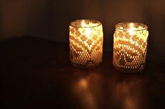 Doily Lace Candle Votive Tutorial – Julie Ann Art