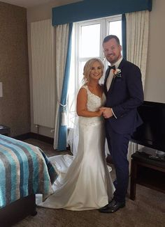 Congratulations to Michaela & Danny who get married here on Saturday ♡ Grooms, Mermaid Wedding, Got Married, Congratulations, Bride, Wedding Dresses, Fashion, Wedding Bride, Bride Dresses