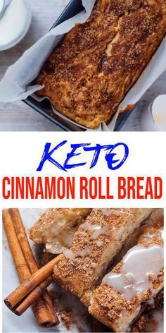 Tasty keto bread you CAN NOT stop eating! Keto cinnamon roll bread with icing / frosting. This low carb cinnamon roll loaf bread is easy to make and super yummy. Simple keto recipe for the BEST low… Food Cakes, Desserts Keto, Keto Snacks, Simple Keto Desserts, No Sugar Snacks, No Sugar Desserts, Gluten Free Desserts, Almond Recipes, Low Carb Recipes