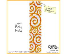 Bead Loom Pattern Jam Roly Poly INSTANT by VikisBeadingPatterns, $6.50