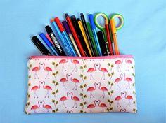 Flamingo pencil case  pink pen pouch  flamingo gift  unique Flamingo Gifts, Unique Gifts, Handmade Gifts, Back To School, Pink, Stationery, Unique Jewelry, Pencil Cases, Pouches