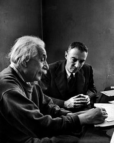 "Alfred Eisenstaedt Theoretical Physicists Albert Einstein and J. Robert Oppenheimer, Princeton, New Jersey 1947 ""The unleashed power of the atom has changed everything save our modes of thinking and we thus drift toward unparalleled catastrophe. Aliens And Ufos, Ancient Aliens, Ancient History, Harry Truman, J Robert Oppenheimer, New Jersey, Institute For Advanced Study, Carl Sagan, Physicist"
