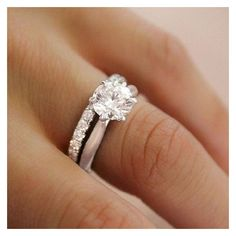 55 Simple Engagement Ring for Every Kind of Women ❤ liked on Polyvore featuring jewelry, rings, engagement rings, round ring and round engagement rings