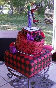wedding Customized joker Wedding or engagement Cake topper from kharygoarts   http://kharygoarts.artfire.com