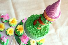 Tangled Tower Birthday Cake - Tangled Party Decor & Food