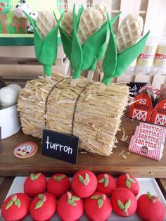 Farm birthday party treats! See more party planning ideas at CatchMyParty.com!