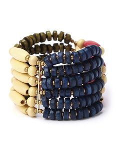 Pack your bags with bright, bold looks from our Resort Collection. Vibrant bracelet is made up of wooden beads in a variety of colors and sizes. Stretch band comfortably fits your wrist. Customized in size and scale for the plus size woman. For your comfort, all Catherines jewelry is free of lead and nickel. catherines.com