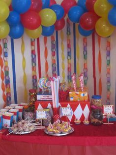 "Photo 11 of Carnival/Circus / Birthday ""Big Top is in town"" Circus Carnival Party, Circus Theme Party, Carnival Birthday Parties, Circus Birthday, Birthday Fun, First Birthday Parties, Birthday Ideas, Circus Circus, Circus 1st Birthdays"