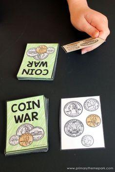 Money Activities for Second Grade #mathgamesforsecondgrade
