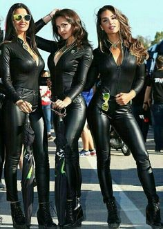 High Heel Boots, High Heels, Monster Energy Girls, Tight Leather Pants, Rock Girls, Leder Outfits, Grid Girls, Running Tights, After Dark
