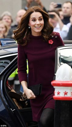 The Duchess, 35, arrived for the Place2Be forum in London on how schools can tackle mental health problems, the morning after attending a charity gala honouring The Anna Freud Centre.