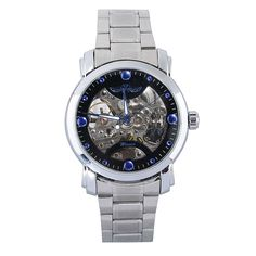 New Men's Fashion Casual Luxury Stainless Steel Band Quartz Wrist Watch Silver #Unbranded