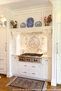 Tour a Beautiful Victorian Home, Rebuilt After a Devastating Fire - New Design Victorian Home Decor, Victorian Kitchen, Victorian Homes, French Country Kitchens, French Country House, French Country Decorating, Country Blue, Kitchen Styling, Kitchen Decor