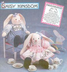 Daisy Kingdom stuffed bunny pattern ~ SOLD!