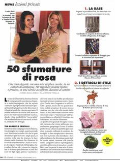 """ELLE a TAVOLA - october 2015 - """"50 shades of pink"""" - dressing the table in fall with @csabadallazorza featuring our hand painted linen tablecloth #marinacmilano shop.marinac.it"""