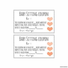 babysitting voucher printable for use Funny Certificates, Free Gift Certificate Template, Printable Certificates, Mary Poppins, Homemade Moon Sand, Rainy Day Activities, Family Activities, Voucher, Coupon Template