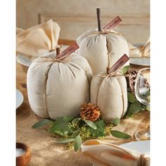 You'll love the 3 Piece Linen Pumpkin Set at Wayfair - Great Deals on all Décor  products with Free Shipping on most stuff, even the big stuff.