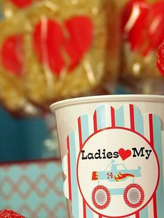 Boy themed Valentine's Day cup