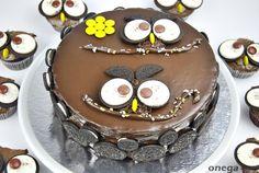 tarta buho desde arriba
