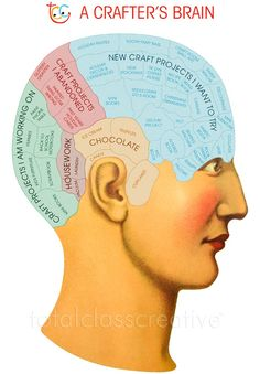 Diagram of a Crafter's brain.