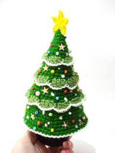 Crochet Christmas Tree Pattern, Crocheted Tree Pattern, Christmas Gifts, Christmas ornaments, Tutorial, diy, pdf on Etsy, €2,05
