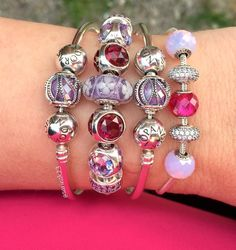How I love hot pink and fuchsia and the new Pandora CZ Droplets! #pandora #pandorabeads #pandoracharms #pandorabracelets #dolove #doinspire #pink #hotpink #purple #purplelover #myarmparty #pandorabracelets #pandoraessence #passion #balance #friendship #crystals #silverjewelry #pandoralove @theofficialpandora