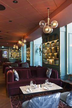Haymarket by Scandic, Stockholm, Hotellbar Haymarket Hotel, Living Dining Combo, Condo, Art Deco Bar, Hotel Decor, Bar Lounge, Restaurant Design, Interior Lighting, Home