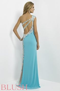 Blush Prom Dresses 2014 and Evening Gowns Blush Style 9780 (back)