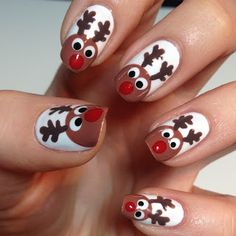 The Nail Trail - reindeer nails