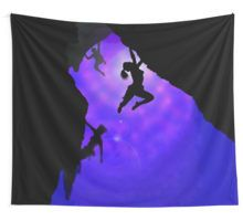 moonlit climbers Wall Tapestry