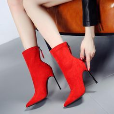 Material:Suede|Heel Height:10.5cm