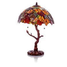 Soooo excited just got this for xmas! River+of+Goods+11126+Autumn+Leaves+Stained+Glass+Table+Lamp+with+Tree+Trunk+Base cmog