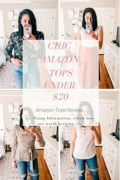 7 Chic Amazon Tops Under $20 // Budget Friendly Spring Tops // The cutest blouses for Spring // Affordable cute tops // Amazon Fashion // What to buy at amazon // Honest Reviews about clothes on Amazon // Spring outfit ideas // Spring Style //  #AmazonFashion #founditonamazon  #affordablespringoutfits #budgetfriendlytops #chicblouses #springstyle
