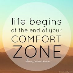 Alexandra's Randomness: How to get out of the comfort zone