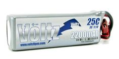 VT220025C3S Voltz 2200mAh 3S 11.1V 25C Lipo Pack