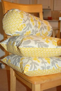Cute DIY pillows just what i want for my living room yellow :)