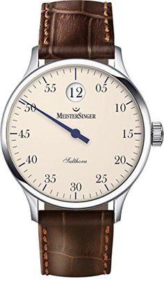 MeisterSinger Salthora Automatikuhr mit einem Zeiger und springender Stunde - https://herrenuhren24.net/armbanduhr/meister-singer-salthora-sh903-einzeigeruhr-automatik/ #automatikuhr