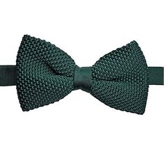 Forest Green Knitted Bow Tie. Green Knit Bow Tie. by Tietle, $15.00