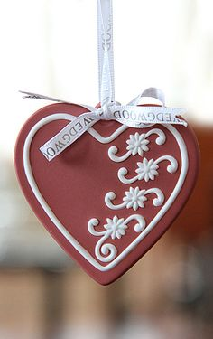Wedgwood 2012 Red Cookie Heart Ornament, 3rd in Series