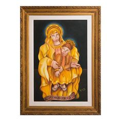 NOVICA Expressionist Painting of the Virgin Mary with Baby Jesus (15.735 NOK) ❤ liked on Polyvore featuring home, home decor, wall art, modern and freestyle, paintings, jesus christ painting, jesus painting, novica home decor, virgin mary painting and painted wall art